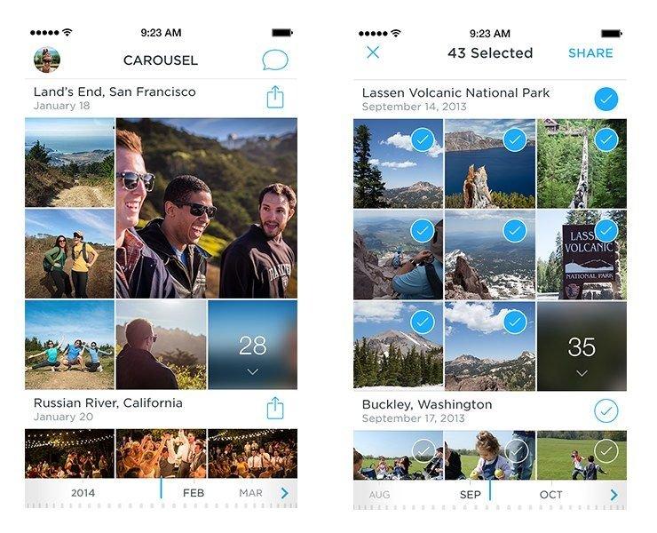 Dropbox представил приложение для организации фото и видео