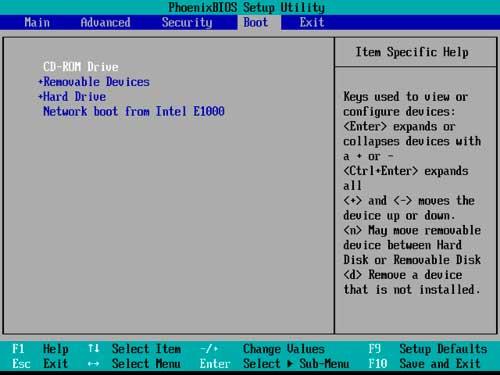 Главное меню AWARD BIOS версии 6