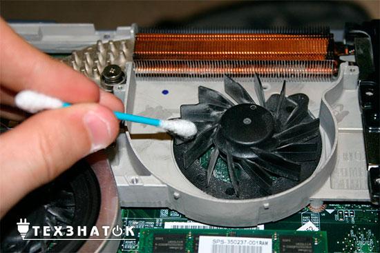 как почистить кулер на ноутбуке