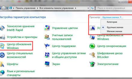 Отключение автоматического обновления в ОС Windows