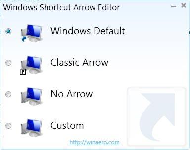 Изменение и удаление стрелок с ярлыков Windows 7