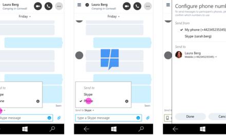 SMS-функции приложения Skype
