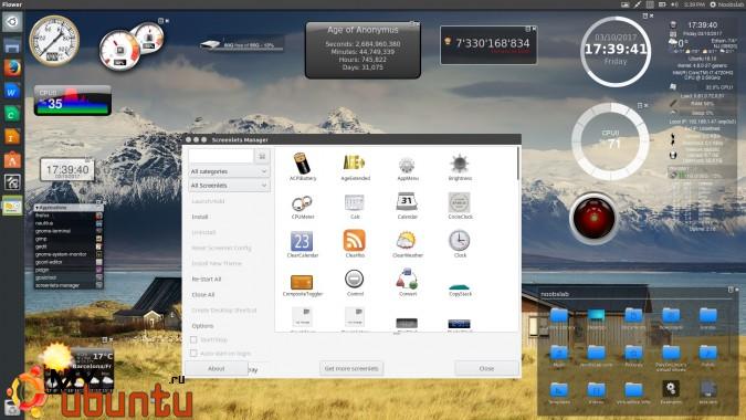 Screenlets — виджеты для рабочего стола Ubuntu/Linux